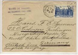 Lettre 1948 , BAIGNEUX Pour Germany - France