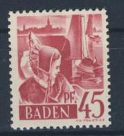 Baden Michel Nr. 9 y w I ** postfrisch
