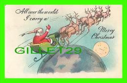 SANTA CLAUS - PÈRE NOEL AVEC SON TRAINEAU & RENNES - ALL OVER THE WORLD - MERRY CHRISTMAS  - TRAVEL - - Santa Claus