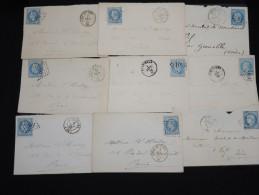 FRANCE - Lot De 20 Lettres - Petit Prix - A étudier -  Lot N° 9091 - 1849-1876: Klassieke Periode