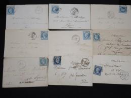 FRANCE - Lot De 20 Lettres - Petit Prix - A étudier -  Lot N° 9093 - 1849-1876: Période Classique