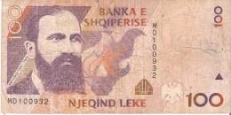 BILLETE DE ALBANIA DE 100 LEKE DEL AÑO 1996  (BANKNOTE) - Albania