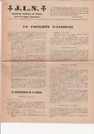 CIRCULAIRE INTERIEUR DE LIAISON -JEUNES DE LA LIBERATION NATIONALE  -ETATS GENERAUX-LYON -4 PAGES -1945 - Documents