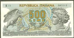 500 Lire Cinque Cento Lirre Italia Banknote - 500 Lire