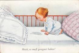 Mutti, Es Muß Geregnet Haben, Gel.1930 - Humorvolle Karten