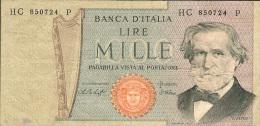 1000 Lire Mille Lire Italia Banknote - [ 2] 1946-… : Repubblica