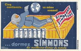 BUVARD - Joli Buvard MATELAS SIMMONS , Les Meilleures Literies Du Monde - Buvards, Protège-cahiers Illustrés