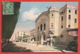CPA Tunisie - Tunis - L'avenue Jules Ferry Et Le Théâtre Municipal - Túnez