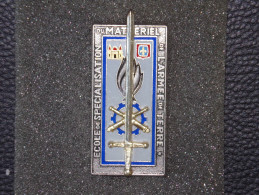 """Insignes Militaire """"Ecole De Spécialisation Du Matériel De L'Armée De Terre ESMAT"""" Military Badges  - RARE - Armée De Terre"""