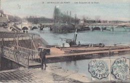 Bâteaux - Remorqueur Ville De Lagny Passage Ecluse - Remorqueurs