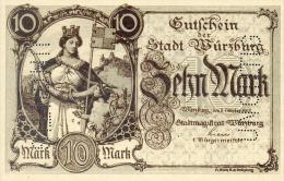 Deutschland, Germany, Gutschein Der Stadt Würzburg, Set - 10 & 20 Mark, UNC, 1918 ! - [ 2] 1871-1918 : Duitse Rijk