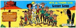 FRANCE BC3546a Dos Du Carnet LUCKY LUKE De Morris Journal Pilote Spirou Cow Boy Western Dalton Cactus - Stamp Day