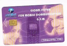 TUNISIA  -  TELECOM  (CHIP) -  2001  MAN WITH PHONE   -  USED  -  RIF. 2644 - Tunisia