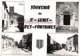 66 - SAINT GENIS DES FONTAINES - Souvenir De ...- Multivues  - 1960 - 2 Scans - France