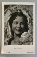 AK Autogrammkarte  Schauspielerin MARIA CEBOTARI, Porträt,  Kopfschmuck - Künstler