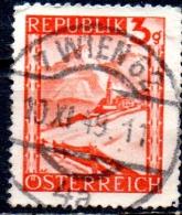 AUSTRIA 1947 Views - 3g - Red (Lermoos)  FU - 1945-.... 2nd Republic