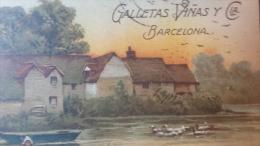 Spain Barcelona Advertising Biscuits  Carte Postale Vintage Original  Postcard Cpa Ak (W4_1401) - Publicidad