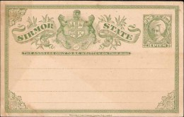 India, Princely State Sirmoor, Postal Card, Lion, Mint, Inde Condition As Per The Scan - Sirmur
