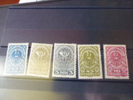 AUTRICHE TIMBRE OU SERIE YVERT  N° 188-204* - 1918-1945 1. Republik