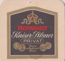 Henninger Kaiser Pilsner Privat Sous Bock état Moyen - Sous-bocks