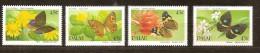 Palau 1990  Yvertn° 325-28 *** MNH  Cote 8,00 Euro  Flore  + Papillons - Palau