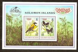 Salomon Solomon Islands 1997 Yvertn° Bloc 49 *** MNH Cote 7 Euro Faune Oiseaux Papillons - Salomon (Iles 1978-...)