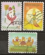 Slovenie Slovenia 2002/3 Voeux Wishes Obl - Slovenië