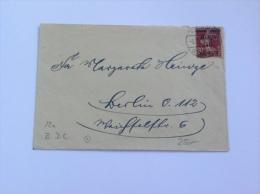 Memel Lettre 1920 20c Semeuse Surcharge 40 Pfennig >Berlin  Mi 22a (Brief, Cover, Memelgebiet)