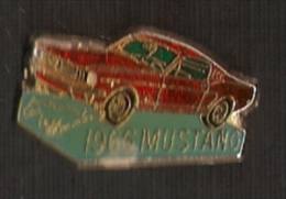 PIN DE UN COCHE MUSTANG 1966  (AUTOMOBILE-VOITURE) - Pin's