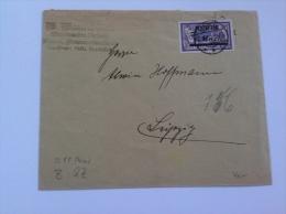 Memel Lettre 1922 60c Merson Surchargé 6 Mark > Leipzig Mi 92 (cover Brief Memelgebiet)