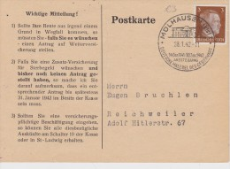 ALLEMAGNE 1942 CARTE IMPRIMEE AVEC CACHET ILLUSTRE - Allemagne