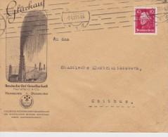 ALLEMAGNE 1927 LETTRE ILLUSTREE DE HAMBOURG THEME PETROLE - Alemania