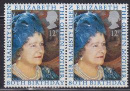 3530. Great Britain (England), 1980, Queen Elizabeth, In Pair, MNH (**) Michel 845 - 1952-.... (Elizabeth II)