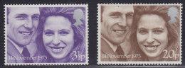 3541. Great Britain (England), 1973, Princess Anne And Mark Philips, MNH (**) Michel 637-638 - 1952-.... (Elizabeth II)