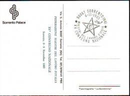 Maestri Del Lavoro  (a)annullo  1985 Convegno Nazionale Sorrento Su Cartolina - 6. 1946-.. Republic
