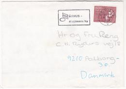 1983 DENMARK COVER SLOGAN Pmk ARHUS CITY OF MUSIC  Serfdom  Stamps - Cartas