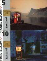 TELECARTES SUISSE  5CHF/10CHF  Cabines Téléphone Téléphone Booths (lot De 2) - Svizzera