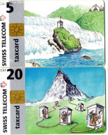TELECARTES SUISSE  5CHF/20CHF  (lot De 2) - Svizzera
