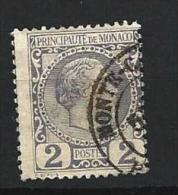 """Monaco YT 2 """" Prince Charles III 2c. Violet-gris """" 1885 Oblitéré - Monaco"""