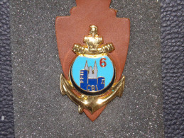 """Insignes Militaire """"Compagnie De Base Et Instruction Du 6e RG"""" Military Badges  - RARE - Army"""