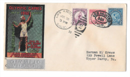 US 1932 Olympic Village Silver Cachet Summer Opening Day Cover Sc 718 719 716 Winter