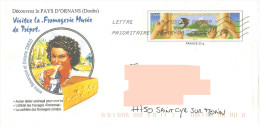 PAP Illustré Pays D'Ornans Doubs Fromagerie Trépot Comté + Timbre Charte Environnement Oiseau Hirondelle - Levensmiddelen