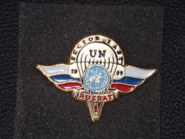 "Insignes Militaire ""RUSBAT 1 - Sector East 1994 SARAJEVO "" Military Badges  - RARE - Landmacht"