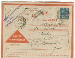 Lot De 5 Cartes De Remboursement Oblit Toulouse Arnaud Bernard De 1929 à 1932 Et Timbres Perforé - Documents De La Poste