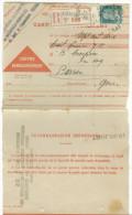 Carte De Remboursement Oblit Toulouse Arnaud Bernard De 1929 Et Timbre  Pasteur   Perforé - Documents De La Poste
