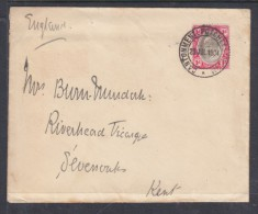 TRANSVAAL,  CANTONMENT POTCHEFSTROOM 23 JUL 1903,  WAR OFFICE Envelope > SEVENOAKS  England - South Africa (...-1961)