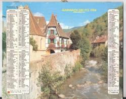 Calendrier Almanach Des PTT 1984  Oberthur Du CANTAL , Carte , Plan D'Aurillac ,TB ! - Calendars