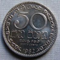 SRI LANKA 1982 - 50 CENTS - Sri Lanka