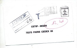Lettre Taxee Flamme Neuves Maisons - Postmark Collection (Covers)