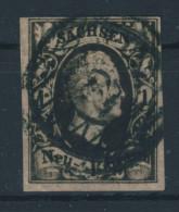 Sachsen Michel No. 4 II gestempelt used Nummerngitterstempel